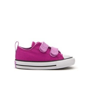 Converse Toddlers' Chuck Taylor All Star 2V Ox Trainers - Magenta Glow/Fuchsia Glow/White