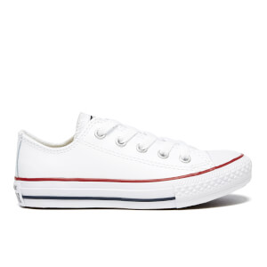 Converse Kids' Chuck Taylor All Star Ox Trainers - White/Garnet/Navy