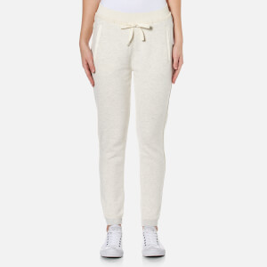 Maison Scotch Women's Home Alone Joggers with Woven Detailing - Grey Melange