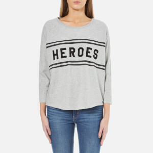 Maison Scotch Women's Loose Fitted Sweatshirt with a Raw Hem - Grey Melange
