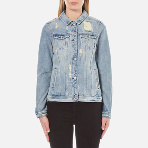 Maison Scotch Women's Denim Trucker Jacket - Indigo