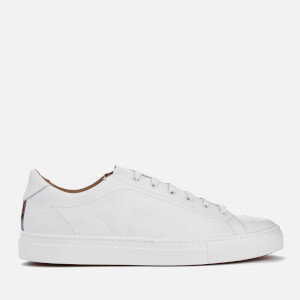 Vivienne Westwood MAN Men's Embossed Squiggle Leather Derby Trainers - White