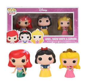 Disney Funko Ariel, Snow White & Aurora Pop! Vinyl