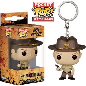 Funko Bloody Rick Grimes Keyring Pop! Keychain