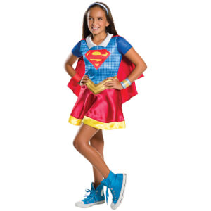 DC Comics Girls' Supergirl Fancy Dress Costume