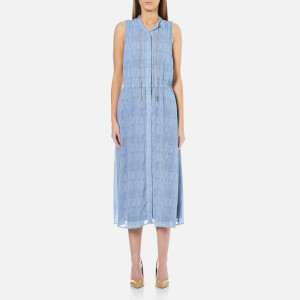 MICHAEL MICHAEL KORS Women's Printed Georgette Shirt Dress - Camel Blue