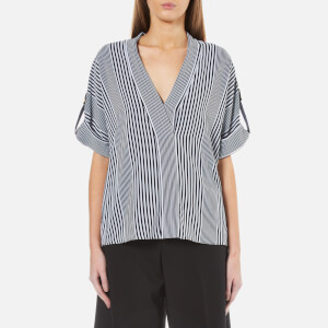 MICHAEL MICHAEL KORS Women's Corsican Stripe Short Sleeve Top - Multi