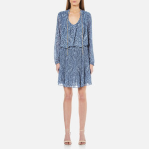 MICHAEL MICHAEL KORS Women's Tex Devonshire Dress - Monterey Blue