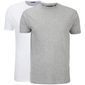 Lot de 2 T-Shirts Hommes Vardan Brave Soul -Blanc/Gris Clair