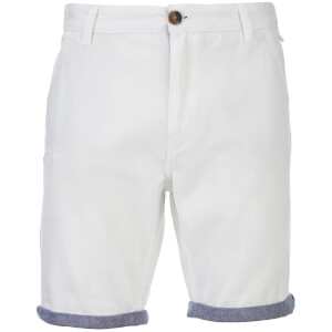 Brave Soul Men's Hansen Cham Chino Shorts - White
