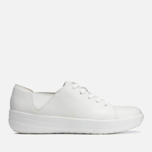 FitFlop Women's F-Sporty Leather Lace Up Trainers - Urban White