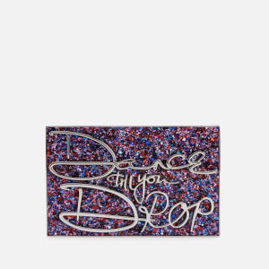 Lulu Guinness Women's Olivia Dance Till You Drop Perspex Clutch Bag - Glitter