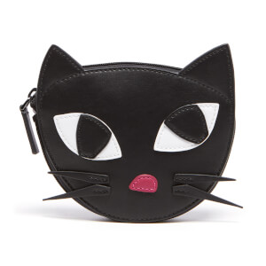 Lulu Guinness Women's Kooky Cat Foldaway Shopper Bag - Black White