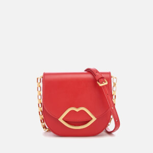 Lulu Guinness Women's Small Smooth Leather Amy Cross Body Bag - Coral