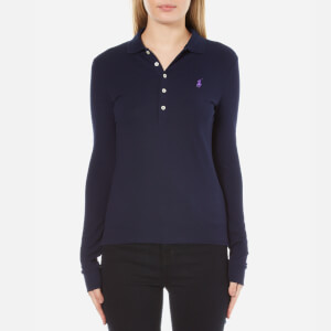 Polo Ralph Lauren Women's Long Sleeve Julie Polo Shirt - Cruise Navy