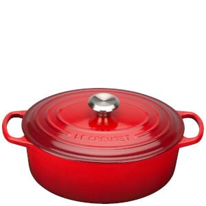 Le Creuset Signature Cast Iron Oval Casserole Dish - 31cm - Cerise