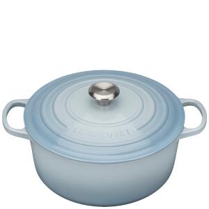 Le Creuset Signature Cast Iron Round Casserole Dish - 28cm - Coastal Blue