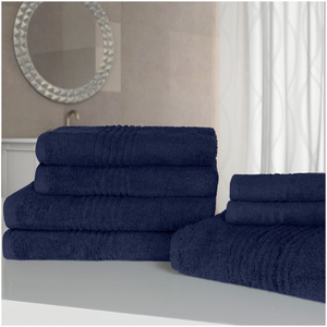 Highams 100% Egyptian Cotton 7 Piece Towel Bale (500gsm) - Blue