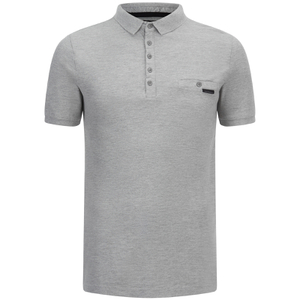 Dissident Men's Dunraven Polo Shirt - Light Grey Marl
