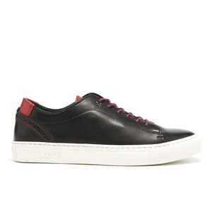 Ted Baker Men's Kiing Burnished Leather Cupsole Trainers - Black