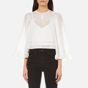 McQ Alexander McQueen Women's Volume Sleeve Top - White