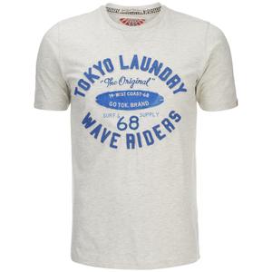 T-Shirt Homme Wave Riders Tokyo Laundry -Blanc Cassé