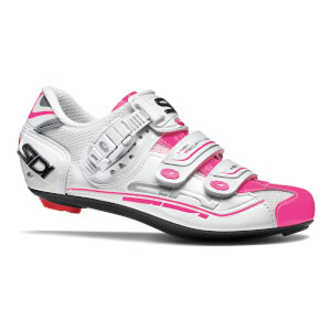 Sidi Women's Genius 7 Road Shoes - White/White/Pink Fluo