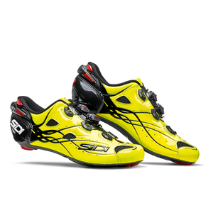 Sidi Shot Carbon Cycling Shoes - Yellow Fluro