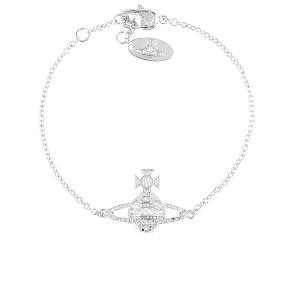 Vivienne Westwood Women's Andrea Bas Relief Bracelet - White Cubic Rhodium