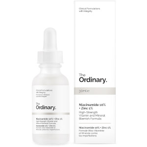 The Ordinary Niacinamide 10% + Zinc 1% High Strength Vitamin and Mineral Blemish Formula -seerumi 30ml