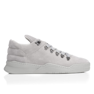 Filling Pieces Men's Ghost Suede Tonal Mountain Cut Trainers - Grey