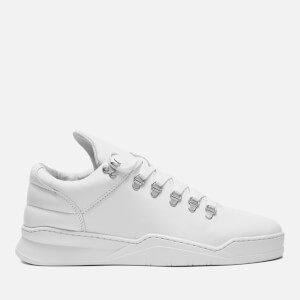 Filling Pieces Men's Ghost Leather Mountain Cut Trainers - White