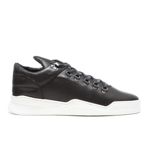 Filling Pieces Men's Ghost Waxed Leather Mountain Cut Trainers - Black