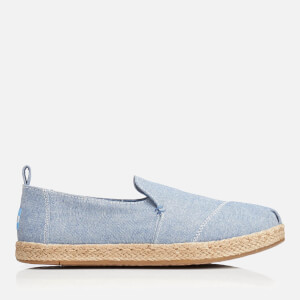 TOMS Women's Deconstructed Alpargata Espadrille Slip-On Pumps - Blue Slub Chambray