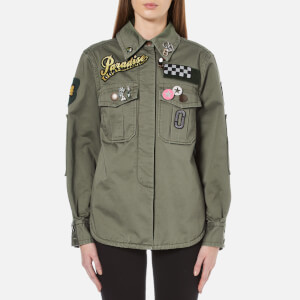 Marc Jacobs Women's Padded Military Shirt - Military Green