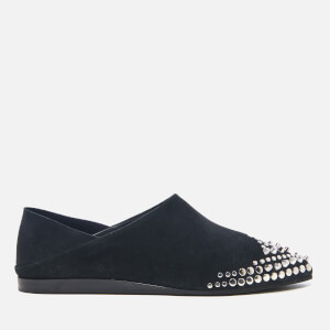 McQ Alexander McQueen Women's Liberty Fold Suede Pointed Flats - Black