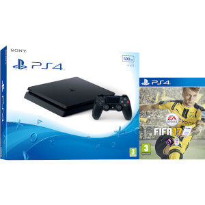 PlayStation 4 Slim 500GB Console with FIFA 17