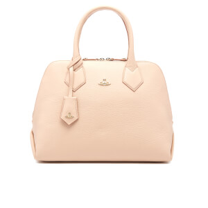 Vivienne Westwood Women's Balmoral Grain Leather Zip Around Tote Bag - Pink