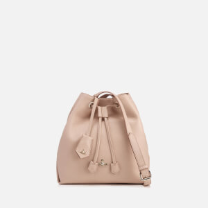 Vivienne Westwood Women's Balmoral Grain Leather Bucket Bag - Pink