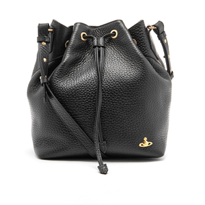 Vivienne Westwood Women's Belgravia Leather Bucket Bag - Black
