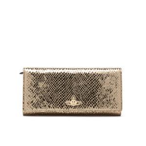 Vivienne Westwood Women's Verona Metallic Leather Credit Card Purse - Gold