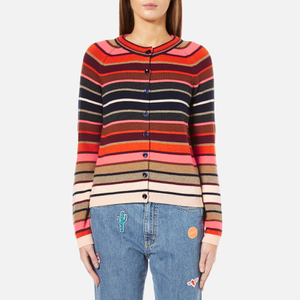 PS by Paul Smith Women's Stripe Cardigan - Red/Pink