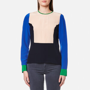 PS by Paul Smith Women's Bib Front Colour Block Top - Navy