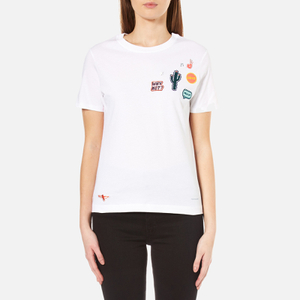 PS by Paul Smith Women's Why Not Patches Top - White
