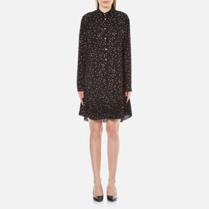 PS by Paul Smith Women's Small Spot Shirt Dress - Black