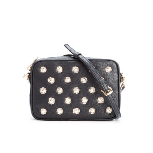 MICHAEL MICHAEL KORS Women's Studded Mid Camera Cross Body Bag - Black