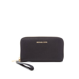 MICHAEL MICHAEL KORS Women's Mercer Large Flat Multifunction Phone Purse - Black