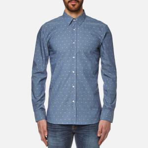 HUGO Men's Elisha Long Sleeve Shirt - Navy