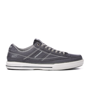 Skechers Men's Arcade Chat Low Top Canvas Trainers - Charcoal