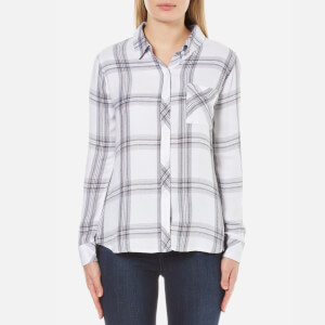 Rails Women's Hunter Shirt - White/Cinder